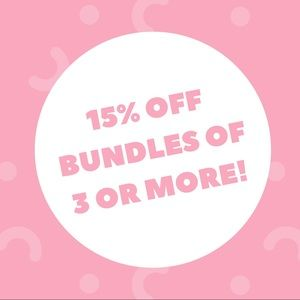 Other - Add three items to a bundle and get 15% off!